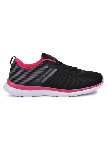 Tiffany&Tomato 9111006 Siyah-Fusya Kadın Spor Ayakkabı Siyah